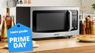 Toshiba EM131A5C-SS microwave Prime Day deal