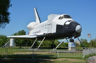 Space Shuttle Replica at Space Center Houston