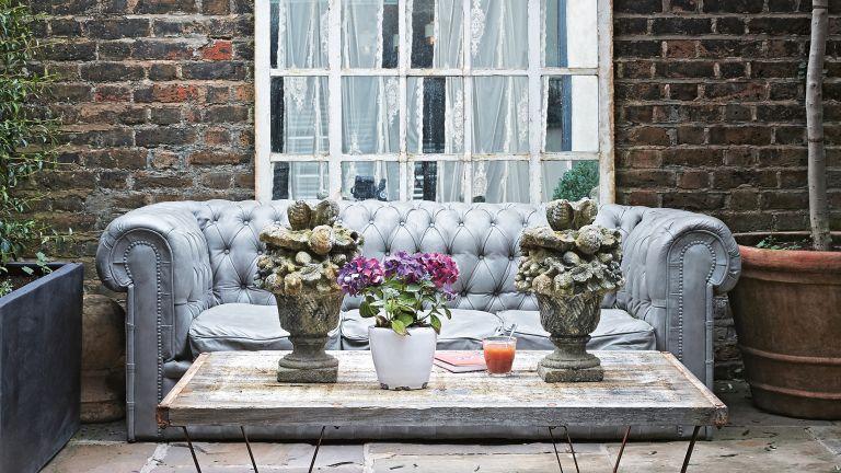 Garden Architectural Salvage, exterior space with antique furniture