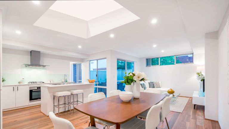 contemporary kitchen extension with rooflights by roofglaze