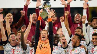 How to watch Bundesliga - Bundesliga team Bayern Munich celebrate their German Supercup 2021 win