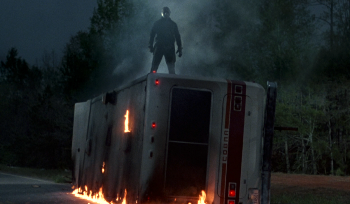 friday the 13th jason standing on RV