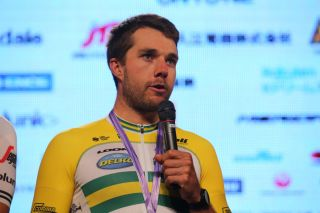 Australian criterium champion Brenton Jones (Delko Marseille Provence) after finishing third at the 2019 Japan Cup Criterium