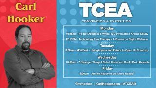 Carl Hooker's TCEA schedule