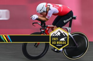 Marlen Reusser (Switzerland) secures the silver medal in the time trial at the Olympic Games