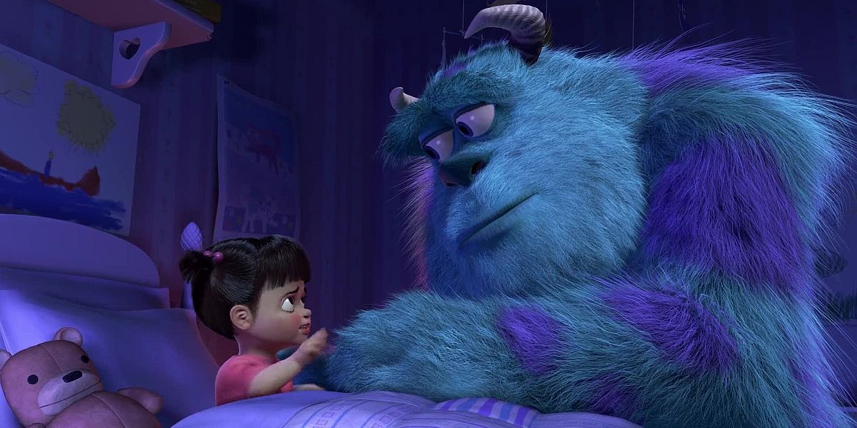 Sully and Boo in Monsters Inc.