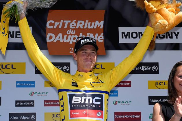 Thumbnail: Rohan Dennis after stage three of the 2015 Crit�rium du Dauphin� (Photo: Graham Watson) .