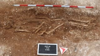 The skeletal remains of the Marlow Warlord, as he's been dubbed, show he was very tall for the time – about 6 feet, when the average height was about 5 feet 7 inches.