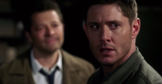 Cas and Dean share a moment.