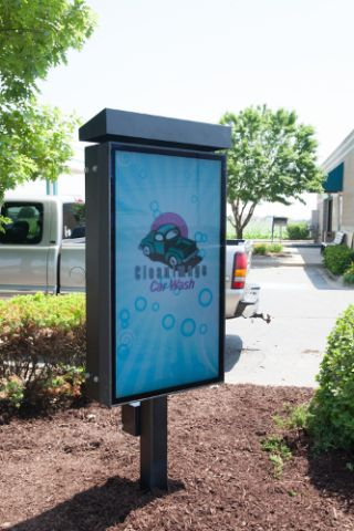 Peerless-AV's Digital Menu at Clean Image Car Wash