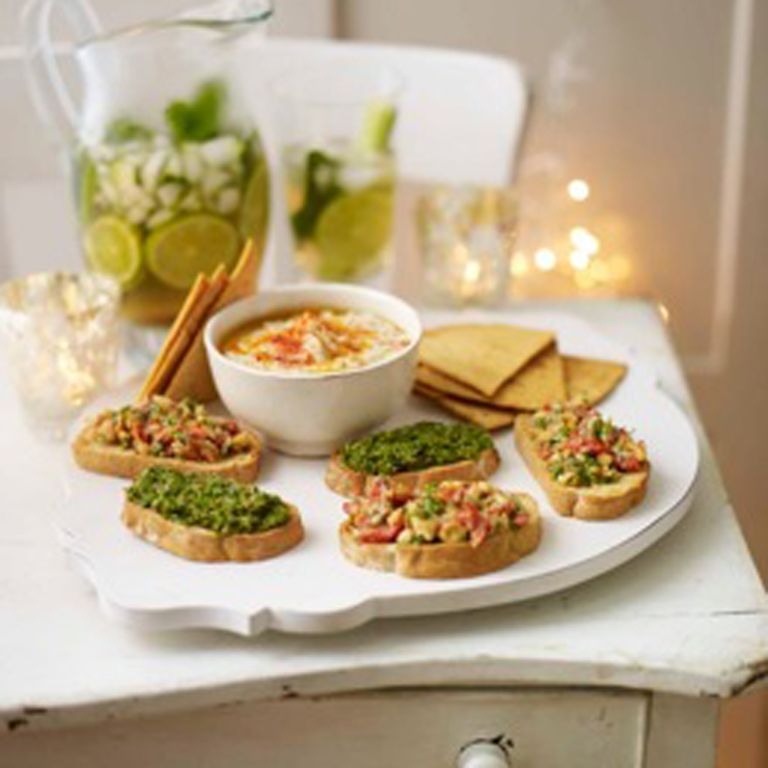 Easy Crostini Canapes-Perfect Party Food-Canape recipes-recipe ideas-new recipes-woman and home