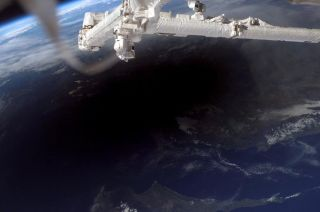Solar Eclipse of 2006 Seen From Space Station