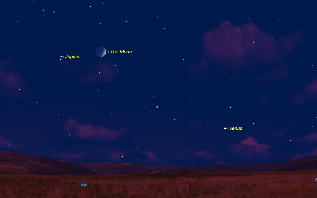 See Venus Shine With Jupiter And The Moon This Week Space