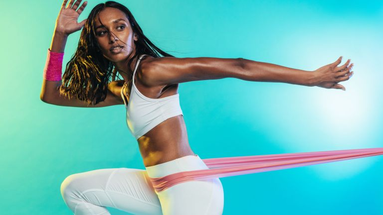 Tone your butt with resistance bands