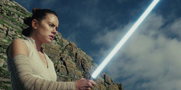 Daisy Ridley as Rey in the last jedi
