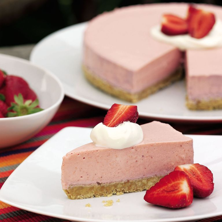 Strawberry Yogurt Mousse Cake recipe-Cake recipes-recipe ideas-new recipes-woman and home