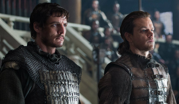 Pedro Pascal Matt Damon The Great Wall Man bun