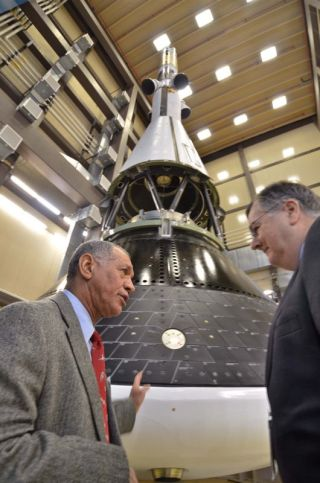 NASA Chief Charles Bolden Talks with Cleon Lacefield
