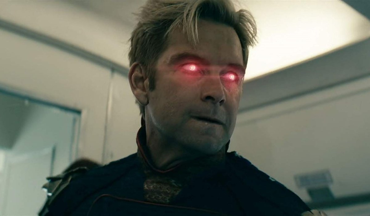 The Boys Homelander angrily readies his laser eyes