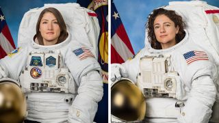 Astronauts Christina Koch (left) and Jessica Meir are scheduled to spacewalk together on Oct. 17 or Oct. 18, 2019.
