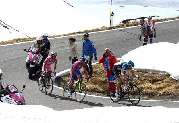 Hesjedal on Stelvio, Giro d'Italia 2012, stage 20