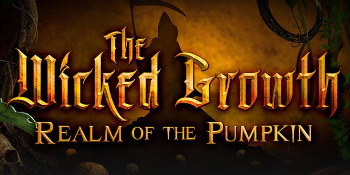 the wicked growth: realm of the pumpkin logo for haunted maze at universal studios orlando halloween horror nights