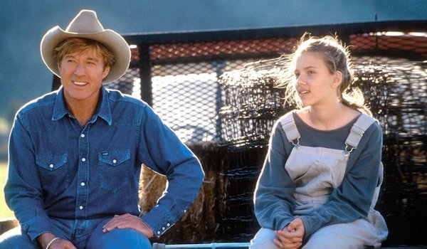 Robert Redford and Scarlett Johansson in the Horse Whisperer