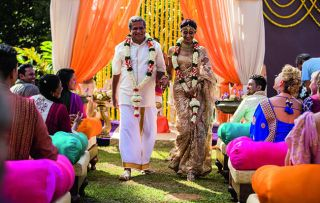 Love is in the air for Dr Ram and his fiancée Mala as the second series of The Good Karma Hospital signs off
