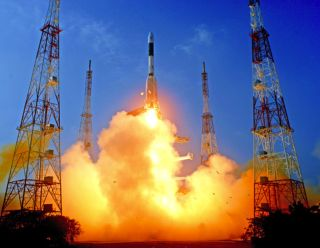 GSLV-D5 Takes Off with GSAT-14 Satellite