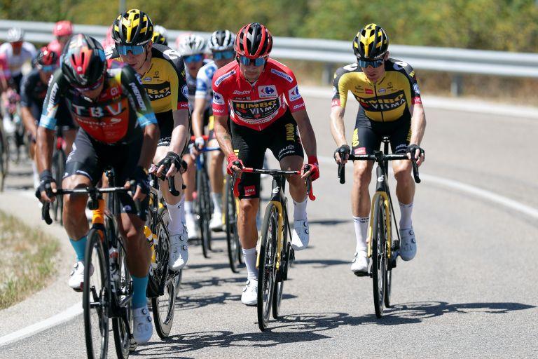 Primoz Roglic on stage three of the 2021 Vuelta a Espana