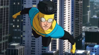 The hero Invincible in the upcoming Amazon Prime Video series.