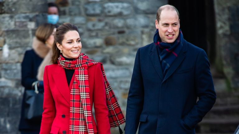 Catherine, Duchess of Cambridge and Prince William, Duke of Cambridge visit to Cardiff Castle on December 08, 2020 in Cardiff, Wales