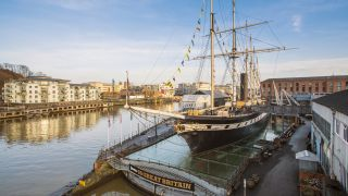 Photo of the SS Great Britain on display on Bristol harbourside