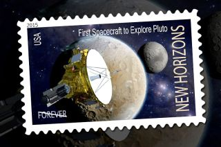 Concept for New Horizons Postage Stamp