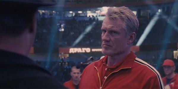 Ivan Drago staring down Rocky Balboa