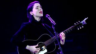 Singer Annie Clark of St. Vincent performs a solo acoustic set during The Malibu Love Sesh Benefit Concert at Hollywood Palladium on January 13, 2019 in Los Angeles, California