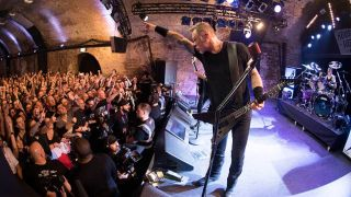 Metallica's James Hetfield onstage at London's House Of Vans