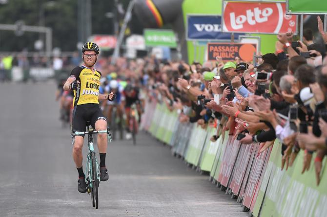 Lars Boom (LottoNL-Jumbo) was cheered by the crowd