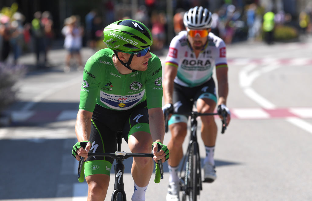 Sam Bennett and his sprint shadow Peter Sagan