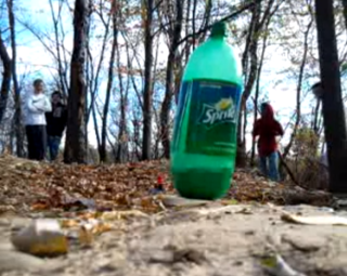 Drano bottle bomb explosion