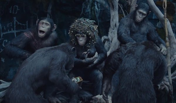 Caesar's family in Dawn of the Planet of the Apes