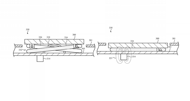 patente de teclado retráctil de apple