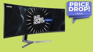 Samsung 49-inch CRG9 Dual QHD Curved QLED Gaming Monitor