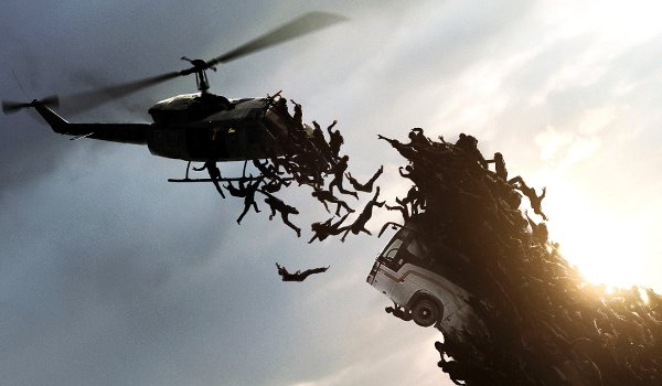 World War Z Zombies Swarm helicopter
