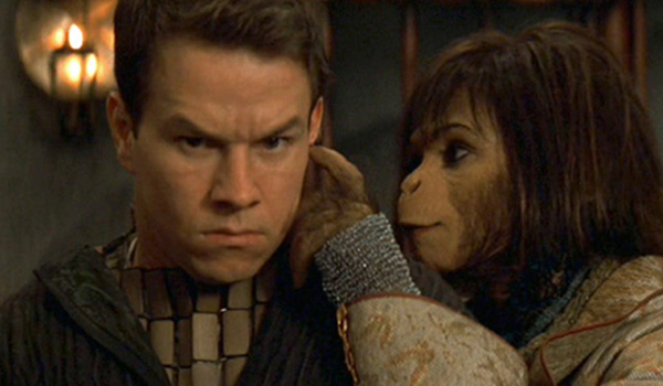 Mark Wahlberg and Helena Bonham Carter in Tim Burton's Planet Of The Apes