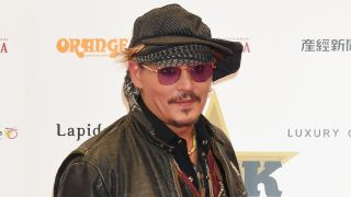 A picture of Johnny Depp at the Classic Rock Roll Of Honour