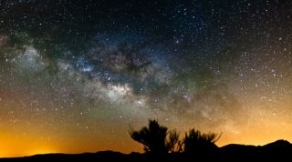 A still from a time-lapse video made by photographer Terje Sorgjerd of the night sky as seen from the Canary Islands.