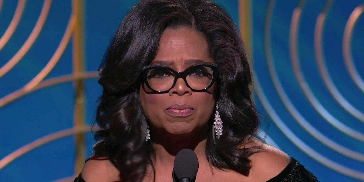 Oprah Winfrey at the 2019 Golden Globes