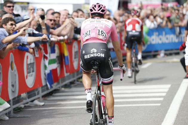 Thumbnail Credit (cyclingweekly.com) (Photo: Yuzuru Sunada): Tom Dumoulin (Team Sunweb) after finishing stage 16 of the Giro d'Italia Credit: Yuzuru Sunada