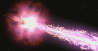 Brightest gamma-ray burst produces jet